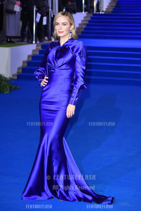 """LONDON, UK. December 12, 2018: Emily Blunt at the UK premiere of """"Mary Poppins Returns"""" at the Royal Albert Hall, London.<br /> Picture: Steve Vas/Featureflash"""