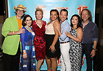 Rick Lyon, Stephanie D'abruzzo, Jennifer Barnhart, Carmen Ruby Floyd, John Tartaglia, Erin Quill and Peter linz attends the 'Avenue Q' - 15th Anniversary Performance Celebration at Novotel on July 31, 2018 in New York City.