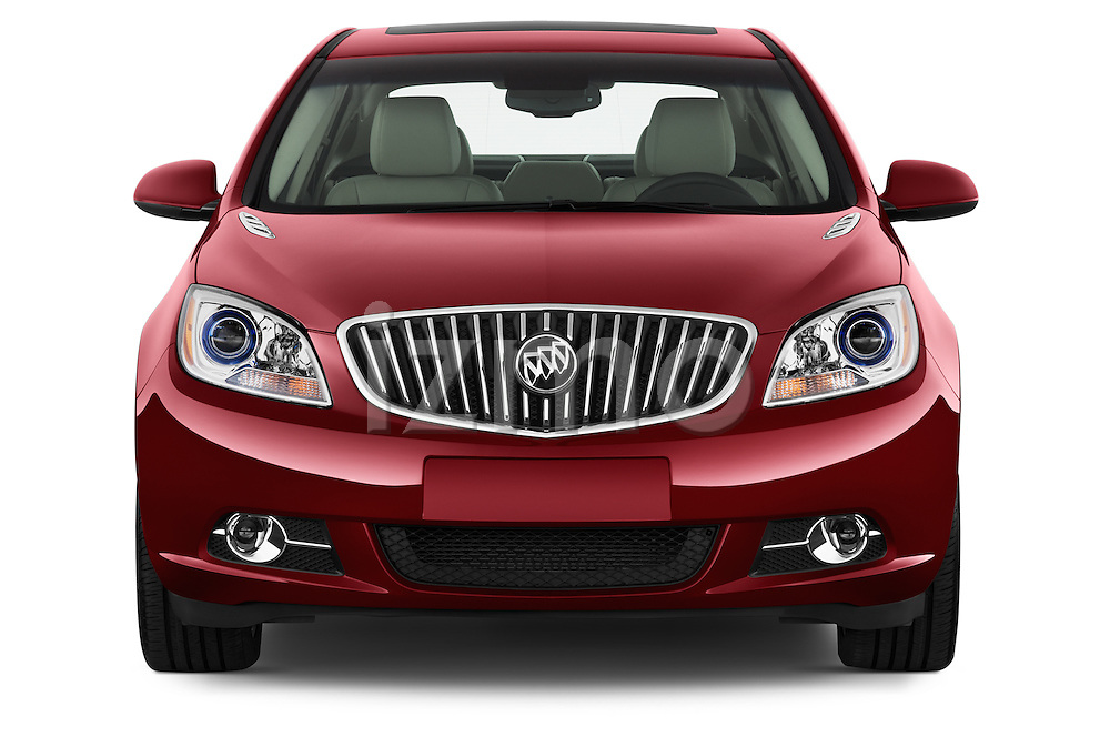 Car photography straight front view of a 2017 Buick Verano Leather 4 Door Sedan Front View