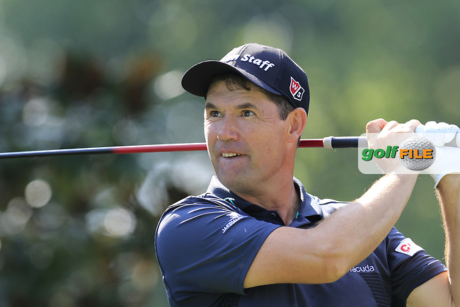 Padraig Harrington (IRL) tees off the 15th tee during Thursday's Round 1 of the 2017 PGA Championship held at Quail Hollow Golf Club, Charlotte, North Carolina, USA. 10th August 2017.<br /> Picture: Eoin Clarke | Golffile<br /> <br /> <br /> All photos usage must carry mandatory copyright credit (&copy; Golffile | Eoin Clarke)
