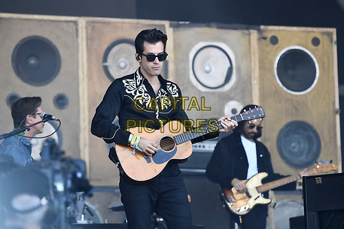 SHEPTON MALLET, ENGLAND - JUNE 30: Mark Ronson performing at Glastonbury Festival, Worthy Farm, Pilton, on June 30, 2019 in Shepton Mallet, England.<br /> CAP/MAR<br /> ©MAR/Capital Pictures