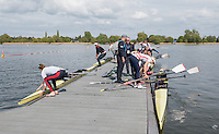 Brandenburg. GERMANY. GB crews boating for training session at the <br /> 2016 European Rowing Championships at the Regattastrecke Beetzsee<br /> <br /> Wednesday  04/05/2016<br /> <br /> [Mandatory Credit; Peter SPURRIER/Intersport-images]