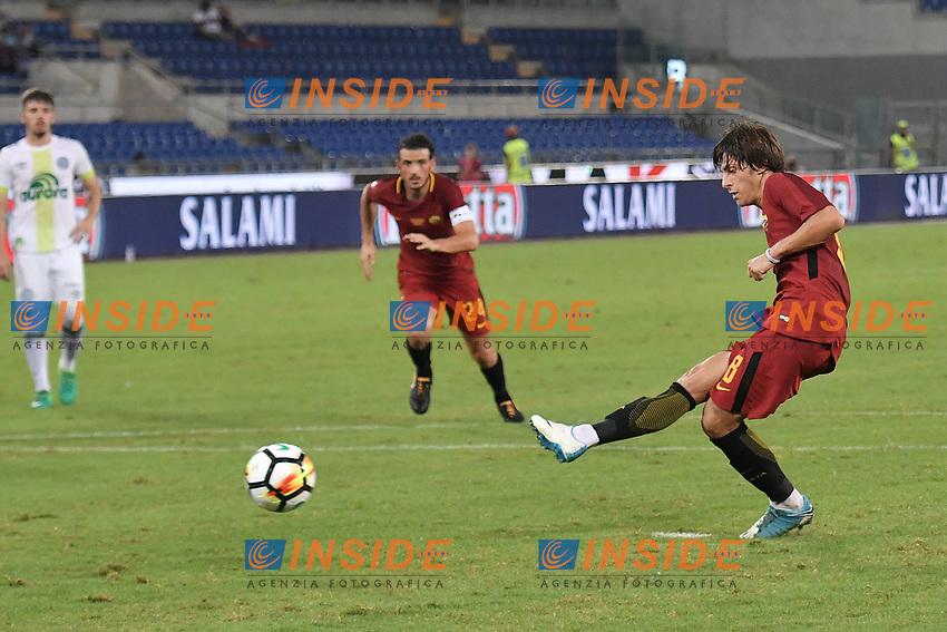 Mirko Antonucci Roma Gol Rigore <br /> Roma 01-09-2017 Stadio Olimpico Football Friendly match AS Roma - Chapecoense Foto Andrea Staccioli / Insidefoto