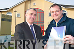 Business minds: Shannon Development's Ogie Moran with Tadgh Beary, Manager .of Wind Prospect Kerry, based in the Shannon Development Business Centre in .Clieveragh.   Copyright Kerry's Eye 2008