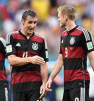FUSSBALL WM 2014  VORRUNDE    GRUPPE G USA - Deutschland                  26.06.2014 Miroslav Klose (li) und Andre Schuerrle (re, beide Deutschland)