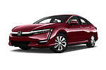 Stock pictures of low aggressive front three quarter view of a 2018 Honda Clarity Plug-In Hybrid 4 Door Sedan
