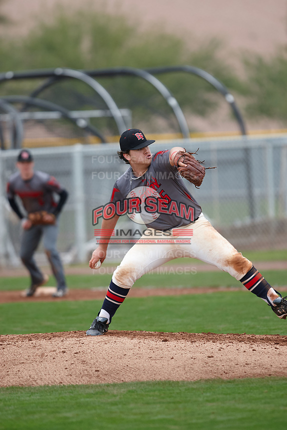 Garrison Harless (16) of Northside High School in Columbus, Georgia during the Under Armour All-American Pre-Season Tournament presented by Baseball Factory on January 15, 2017 at Sloan Park in Mesa, Arizona.  (Kevin C. Cox/MJP/Four Seam Images)