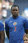 13 July 2015: Jean Sony Alcenat (HAI). The Haiti Men's National Team played the Honduras Men's National Team at Sporting Park in Kansas City, Kansas in a 2015 CONCACAF Gold Cup Group A match. Haiti won the game 1-0.