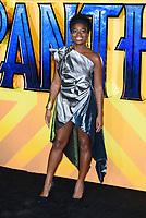 LONDON, ENGLAND - FEBRUARY 8: Clara Amfo arrives at the 'Black Panther' European premiere at the Eventim Apollo, on February 8th, 2018 in London, England. <br /> CAP/JC<br /> &copy;JC/Capital Pictures