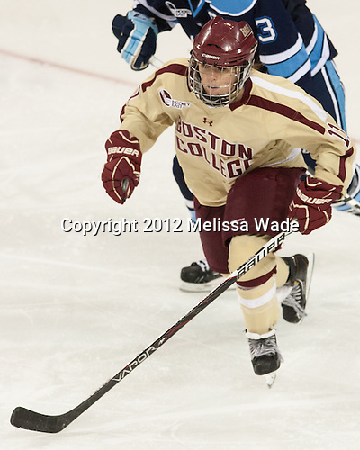 Caitlin Walsh (BC - 11) - The Boston College Eagles defeated the visiting University of Maine Black Bears 10-0 on Saturday, December 1, 2012, at Kelley Rink in Conte Forum in Chestnut Hill, Massachusetts.
