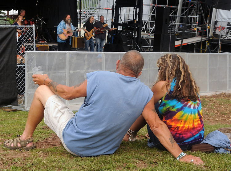 The Dharma Bums, opening the music events, performing on the West Stage of the Mountain Jam Music Festival of 2015, in Hunter, NY, on Thursday June 4, 2015. Photo by Jim Peppler. Copyright Jim Peppler 2015.
