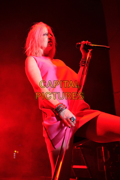 LONDON, ENGLAND - NOVEMBER 9: Shirley Manson of 'Garbage' performing at Brixton Academy on November 9 , 2015 in London, England.<br /> CAP/MAR<br /> &copy; Martin Harris/Capital Pictures