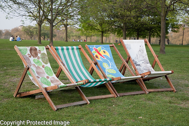 Artist Deckchairs to Rent in Hyde Park, London, UK