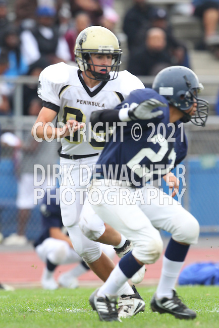 Lawndale, CA 10/21/10 -  Jake Teren (Peninsula #85) and unknown Leuzinger player(s)