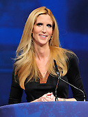 Ann Coulter, Best-Selling Author, Legal Correspondent for Human Events, makes remarks at the 2012 CPAC Conference at the Marriott Wardman Park Hotel in Washington, D.C. on Friday, February 10, 2012..Credit: Ron Sachs / CNP