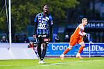 Uppsala 2014-05-07 Fotboll Superettan IK Sirius - &Ouml;stersunds FK :  <br /> Sirius Moses Ogbu ser deppig ut<br /> (Foto: Kenta J&ouml;nsson) Nyckelord:  Superettan Sirius IKS &Ouml;stersund &Ouml;FK depp besviken besvikelse sorg ledsen deppig nedst&auml;md uppgiven sad disappointment disappointed dejected