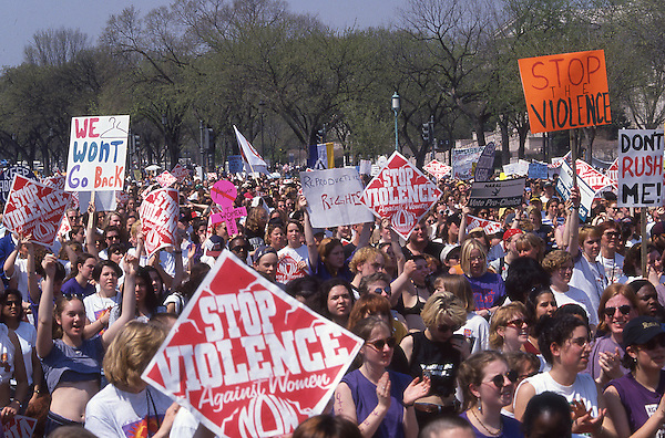 NOW Anti Violence Rally, Washington D.C. April 9, 1995
