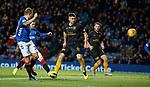 24.11.2018 Rangers v Livingston: Scott Arfield scores goal no 3 for Rangers