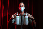 Loic Duc, manager of the Relax Center. Due to the Coronavirus pandemic (COVID-19), erotic salons had to close their doors.<br /> Since April 26th the deconfinement started, but they still can t reopen (like massage or tattoo salons) even though they have masks, hydroalcoholic gel and condoms.Bulle, Switzerland, May 15, 2020.<br /> Loic Duc, gerant du Centre Relax. Face a la pandemie de Coronavirus(COVID-19), les salons erotiques ont du fermer leurs portes.<br /> Depuis le 26 avril le deconfinement a commence, mais ils ne peuvent toujours pas reouvrir (a l instar des salons de massages ou de tatouages) alors qu ils ont masques, gel hydroalcoolique et preservatifs. Bulle, Suisse, le 15 mai 2020.