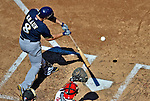 24 September 2012: Milwaukee Brewers outfielder Ryan Braun at bat against the Washington Nationals at Nationals Park in Washington, DC. The Brewers fell 12-2 to the Nationals in the final game of their 4-game series, splitting the series at two. Mandatory Credit: Ed Wolfstein Photo