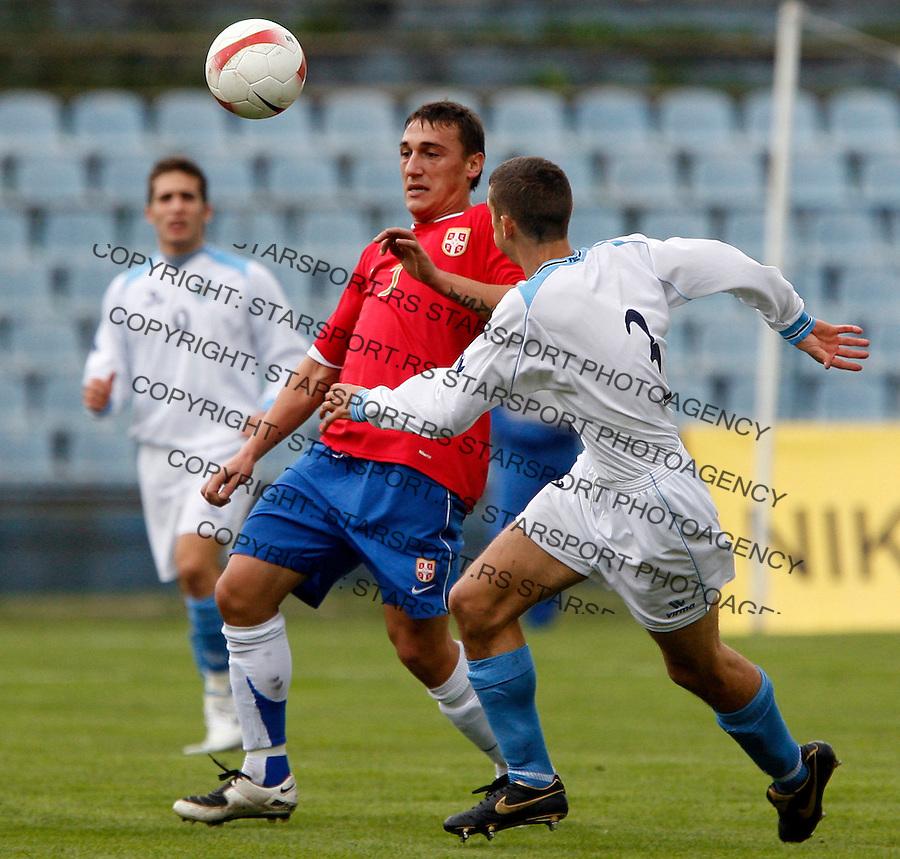 Fudbal, reprezentacija Srbije, u-21.Srbija Vs. San Marino.Vladimir Bogdanovic, center.Beograd, 13.10.2007..foto: Srdjan Stevanovic