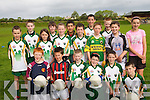 HALF TIME: Young football stars from Duagh enjoying the Kerry GAA VHI Cul Camp in Duagh on Thursday last..Front L/r. Alan Mangan, Thomas Stack, Shane Horgan, Eamon Dowling, Conor Prendiville, Ian Horgan..Second Row L/r. John Joy, Nadine Cronin, Christopher Breen, Luke O'Donnell, Darragh Mangan, Shane Ahern..Back L/r. Ruaidhri Keane, Stepher Ashe, Donnacha Curtin, Kieran Lucy, Padraig O'Donoghue and Aisling Mangan..