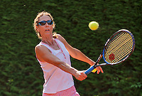 Netherlands, Amstelveen, August 22, 2015, Tennis,  National Veteran Championships, NVK, TV de Kegel,  Lady's  50+, Carole de Bruin<br /> Photo: Tennisimages/Henk Koster