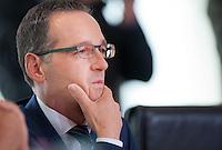 Berlin, Bundesjustizminister Heiko Maas (SPD) am Mittwoch (17.09.2014) im Bundeskanzleramt vor der Kabinettsitzung. Foto: Steffi Loos/CommonLens