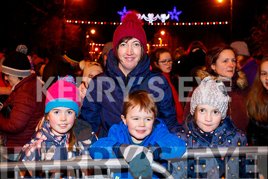 Laura, Helina, Adam and Alison Bradley, Tralee, at the Fireworks in Tralee on New Years Eve.
