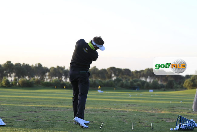 Jbe Kruger (RSA) on the driving range during Round 2 of the Open de Espana  in Club de Golf el Prat, Barcelona on Friday 15th May 2015.<br /> Picture:  Thos Caffrey / www.golffile.ie