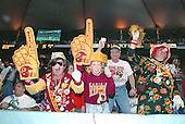 Washington Redskins fans celebrate during Super Bowl XXVI against the Buffalo Bills in Minneapolis, Minnesota on January 26, 1992.  The Redskins won the game and the World Championship 37 - 24.<br /> Credit: Arnie Sachs / CNP