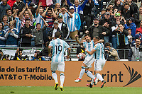 Seattle, WA - Tuesday June 14, 2016: Argentina forward Ezequiel Lavezzi (22)celebrates his goal during a Copa America Centenario Group D match between Argentina (ARG) and Bolivia (BOL) at CenturyLink Field