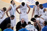 Real Madrid's coach Pablo Laso with his players in time out during Spanish Basketball King's Cup match.February 07,2013. (ALTERPHOTOS/Acero) /Nortephoto