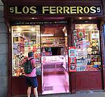 Los Ferreros delicatessen shop, Calle Ciudad Rodrigo, Madrid city centre, Spain