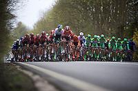 peloton en route for the local finish laps in Overijse with Thomas De Gendt (BEL/Lotto-Soudal) leading the way<br /> <br /> 56th De Brabantse Pijl - La Fl&egrave;che Braban&ccedil;onne (1.HC)