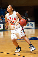 SAN ANTONIO, TX - MARCH 3, 2007: The Stephen F. Austin State University Ladyjackss vs. The University of Texas at San Antonio Roadrunners Women's Basketball at the UTSA Convocation Center. (Photo by Jeff Huehn)