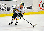 10 January 2009: University of Vermont Catamount forward Justin Milo, a Sophomore from Edina, MN, in action against the Boston College Eagles during the second game of a weekend series at Gutterson Fieldhouse in Burlington, Vermont. The Catamounts rallied from an early 2-0 deficit to defeat the visiting Eagles 4-2. Mandatory Photo Credit: Ed Wolfstein Photo