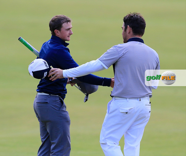 Paul DUNNE (AM)(IRL) finishes joint leader with Louis Oosthuizen (RSA) on -12 during Sunday's Round 3 of the 144th Open Championship, St Andrews Old Course, St Andrews, Fife, Scotland. 19/07/2015.<br /> Picture Eoin Clarke, www.golffile.ie