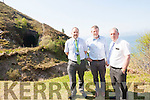 Kerry County Council officials, Martin O'Donoghue, Tom Sheehy, and Charlie O'Sullivan on the proposed route of the South Kerry Greenway.
