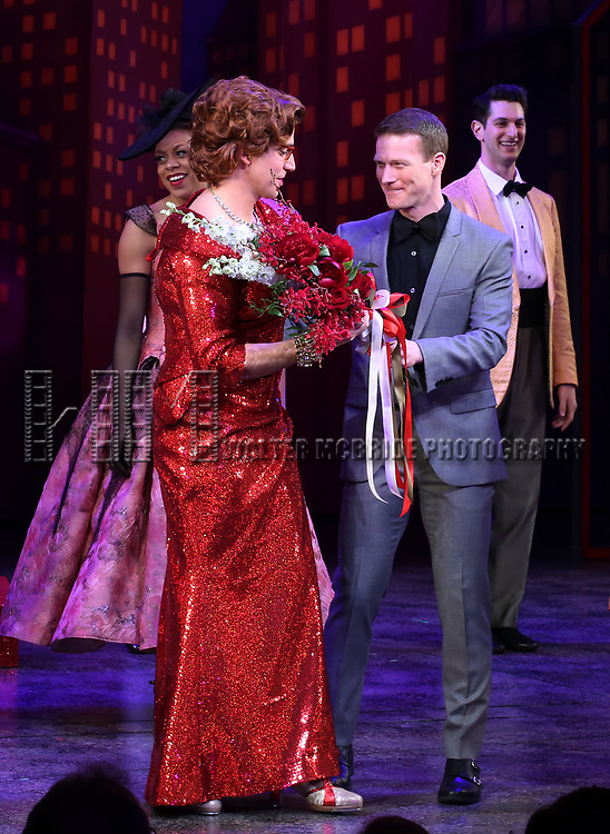 """Santino Fontana and Jeff Kready during the Broadway Opening Night of """"Tootsie"""" at The Marquis Theatre on April 22, 2019  in New York City."""