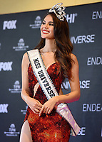BANGKOK, THAILAND - DECEMBER 17: 2018 MISS UNIVERSE: Miss Universe Catriona Gray of the Philippines in the press room at  the 2018 MISS UNIVERSE competition at the Impact Arena in Bangkok, Thailand on December 17, 2018. (Photo by Frank Micelotta/FOX/PictureGroup)