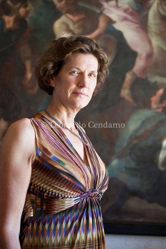 Janne Teller è esperta di macroeconomia e scrittrice. Fino al 1995 lavora per l'Unione Europea e le Nazioni Unite come consulente. Mantova 4 settembre 2019. Photo Leonardo Cendamo