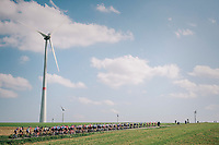 windmills &amp; peloton<br /> <br /> 59th Grand Prix de Wallonie 2018 <br /> 1 Day Race from Blegny to Citadelle de Namur (BEL / 206km)