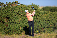 Peter Lawrie of Ireland hits from the rough during Round 2 of the 2015 Alfred Dunhill Links Championship at the Old Course, St Andrews, in Fife, Scotland on 2/10/15.<br /> Picture: Richard Martin-Roberts | Golffile