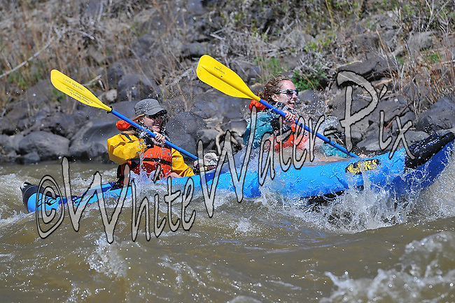 Private Rafters, Kayakers, Canoers & Paddle Boarders crashing Cable Rapid while running the Upper Colorado River from Rancho to State Bridge, May 25, 2013, PM, Bond, Colorado - WhiteWater-Pix | River Adventure Photography - by MADOGRAPHER Doug Mayhew