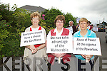 Protesters outside Island View/St Annes Hospital Cahersiveen objecting to the proposed closure of Island View Psychiatric Unit pictured front here l-r; Mary Sheehan, Mary Walsh & Mary O'Sullivan.
