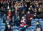 Raith Rovers fans celebrate at the end