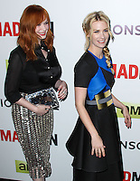 "HOLLYWOOD, LOS ANGELES, CA, USA - APRIL 02: Christina Hendricks, January Jones at the Los Angeles Premiere Of AMC's ""Mad Men"" Season 7 held at ArcLight Cinemas on April 2, 2014 in Hollywood, Los Angeles, California, United States. (Photo by Xavier Collin/Celebrity Monitor)"