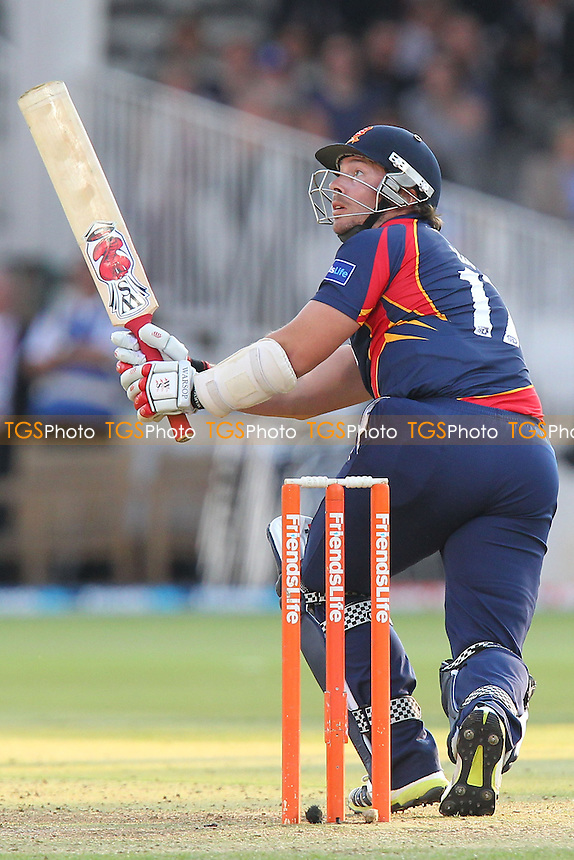 Graham Napier hits six runs for Essex - Middlesex Panthers vs Essex Eagles - Friends Life T20 Cricket at Lords Ground, St Johns Wood, London - 04/07/13 - MANDATORY CREDIT: Gavin Ellis/TGSPHOTO - Self billing applies where appropriate - 0845 094 6026 - contact@tgsphoto.co.uk - NO UNPAID USE