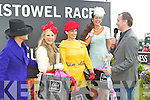 Judges Celia Holman Lee and Daithai O'Se with Best Dressed Lady Winners, Annmarie Blennerhassett, Tralee, (Runner up), Maria Murphy (Winner) and Bernadette O'Sullivan from Milltown (Third) at Listowel Races Ladies Day 2011 on Friday.